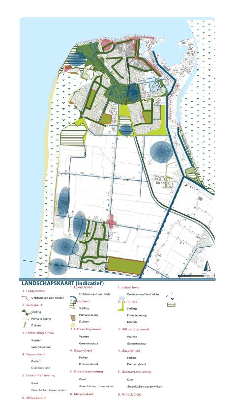 Landschapskaart klimaatatelier Den Helder
