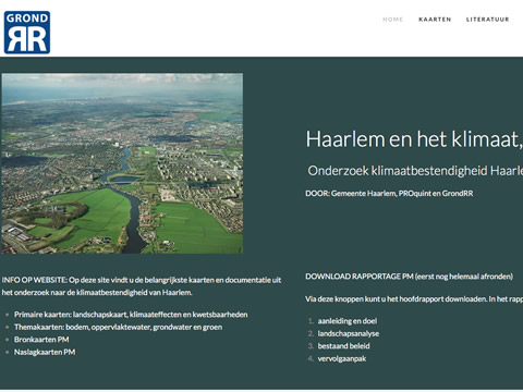 website Haarlem en het klimaat