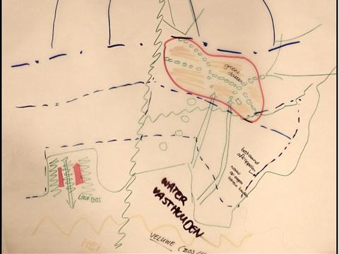 kaart uit schetsworkshop