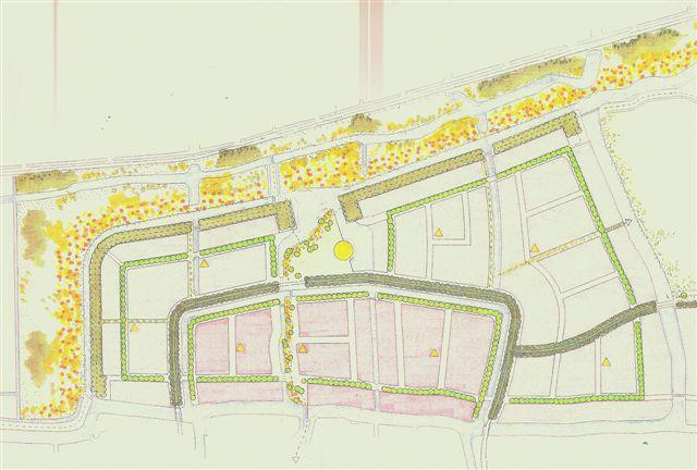 tekening van het ontwerpgroenstructuur
