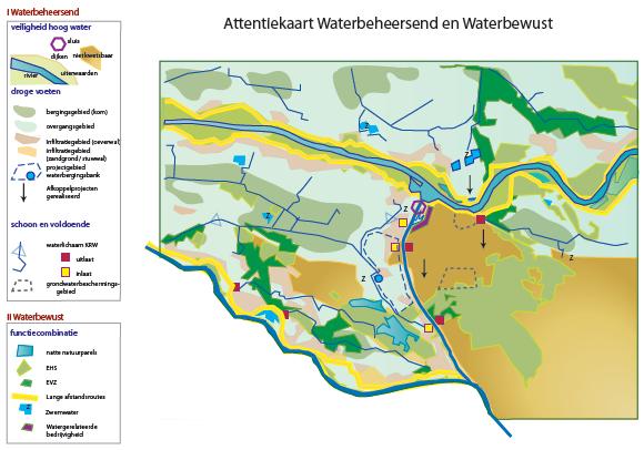 attentiekaart waterbeheersend en waterbewust Nijmegen