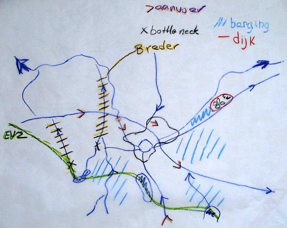 een van de schetsen van de workshop