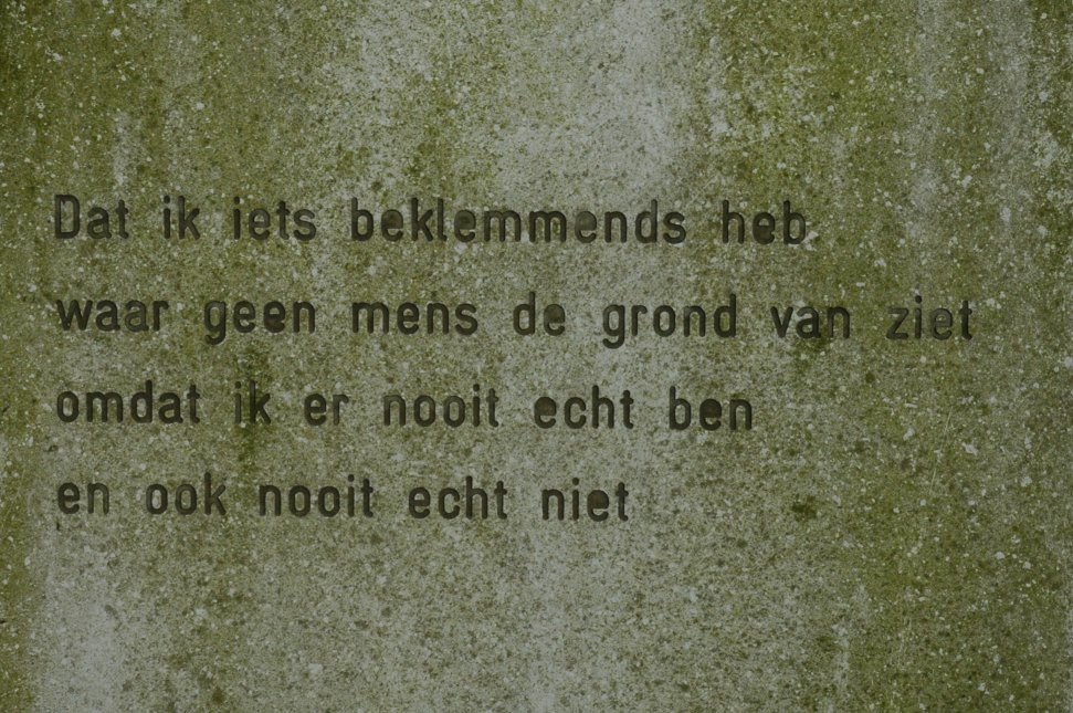 foto van een gedicht