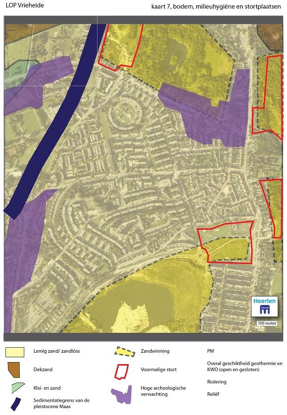 kaart met bodem, stortplaatsen en milieuhygiene