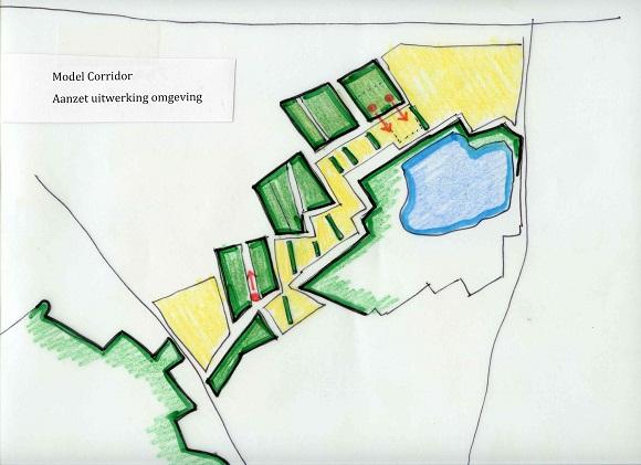 tekening model Corridor