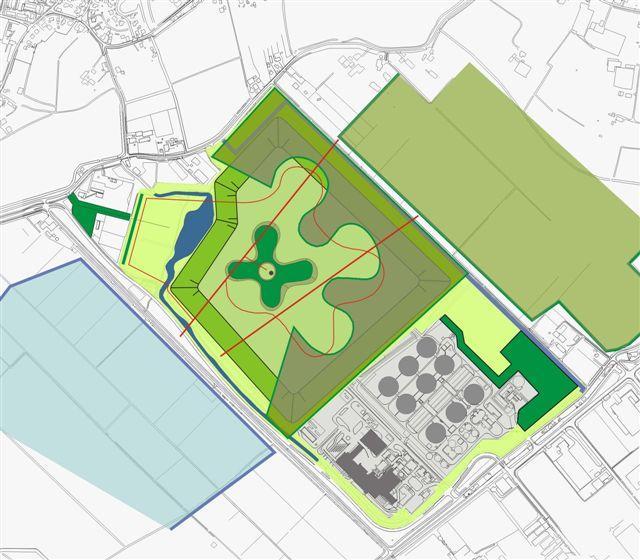 ontwerptekening model natuurpark
