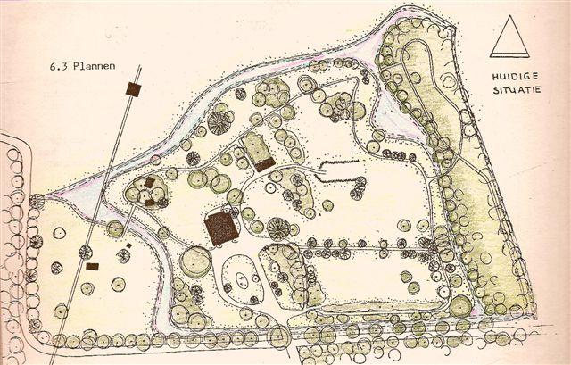 tekening van de oorspronkelijke buitenplaats