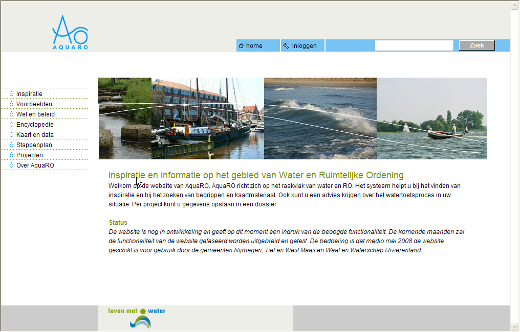 homepages van voormalige Aquaro website