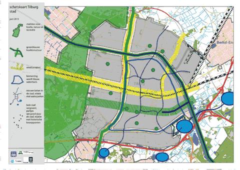 Schetskaart stad Klimaatatelier Tilburg