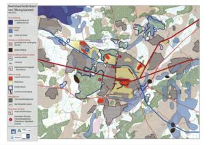 Kwetsbaarhedenkaart klimaatatelier Tilburg
