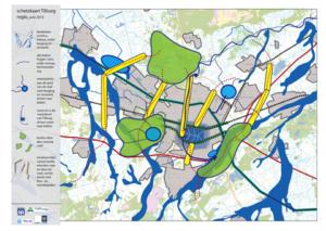 schetskaart klimaatatelier Tilburg regio