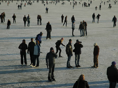 schaatsen op de Hoornse Hop