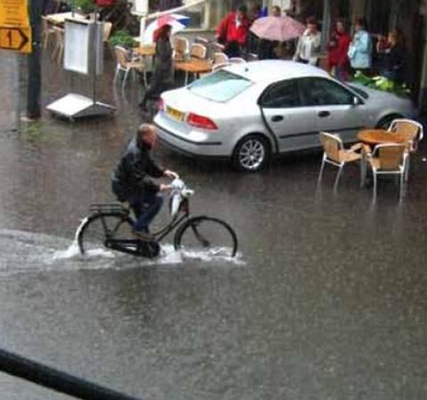 overstroming in Haarlem