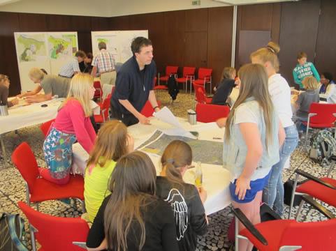 Workshop met middelbare school leerlingen
